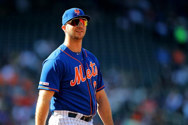 Pete Alonso, the reigning NL Rookie of the Year, will be a top fantasy draft target in 2020. (Photo by Alex Trautwig/MLB Photos via Getty Images)