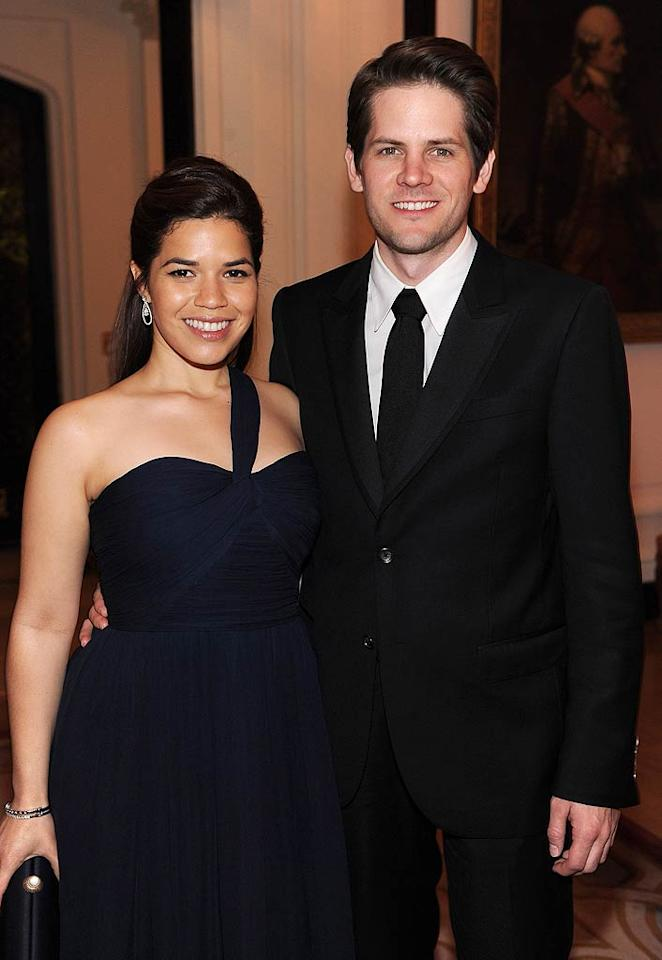 "Former ""Ugly Betty"" star America Ferrera was anything but as she walked down the aisle to marry director Ryan Piers Williams on June 27. The two met when Ryan cast America in a student film he was making while at the University of Southern California. Good call, Ryan! (04/30/2011)"