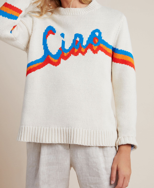 Chinti & Parker Ciao Sweater (Photo via Anthropologie)