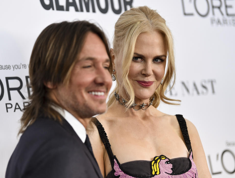 Keith Urban and Nicole Kidman attend the 2017 Glamour Women of the Year Awards at Kings Theatre on Monday, Nov. 13, 2017, in New York. (Photo by Evan Agostini/Invision/AP)