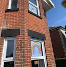 <p>If you've been out on a daily run or walk during lockdown, you may have noticed drawings of rainbows placed in the windows of people's homes. All over the UK, the drawings - which are intended to spread hope during this time, particularly to NHS and key workers - have been cropping up, including at this house in Bournemouth.</p>