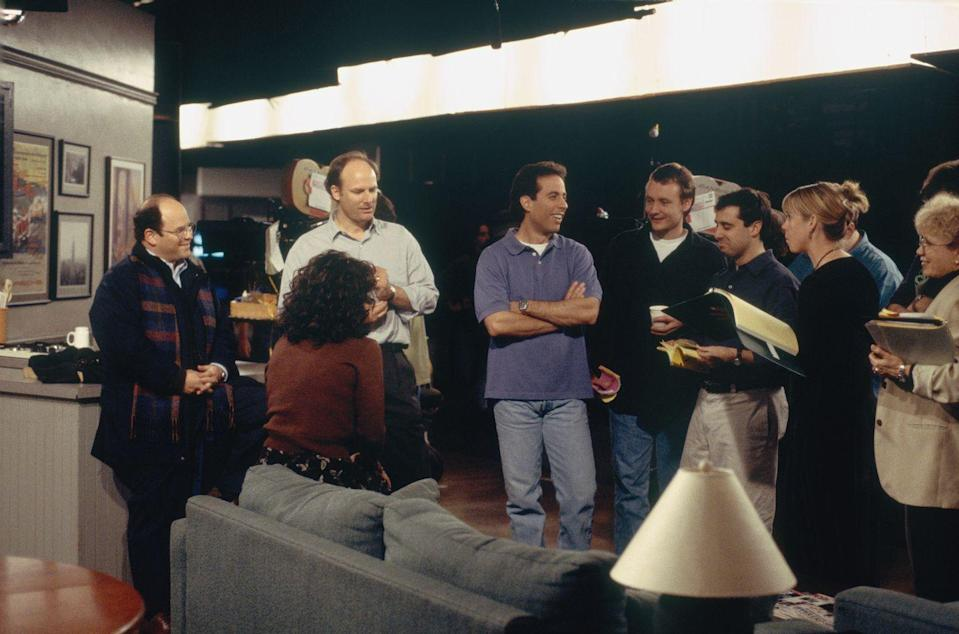 <p>David, who left the show during season seven, returned to help write the show's final episode in 1998. </p>