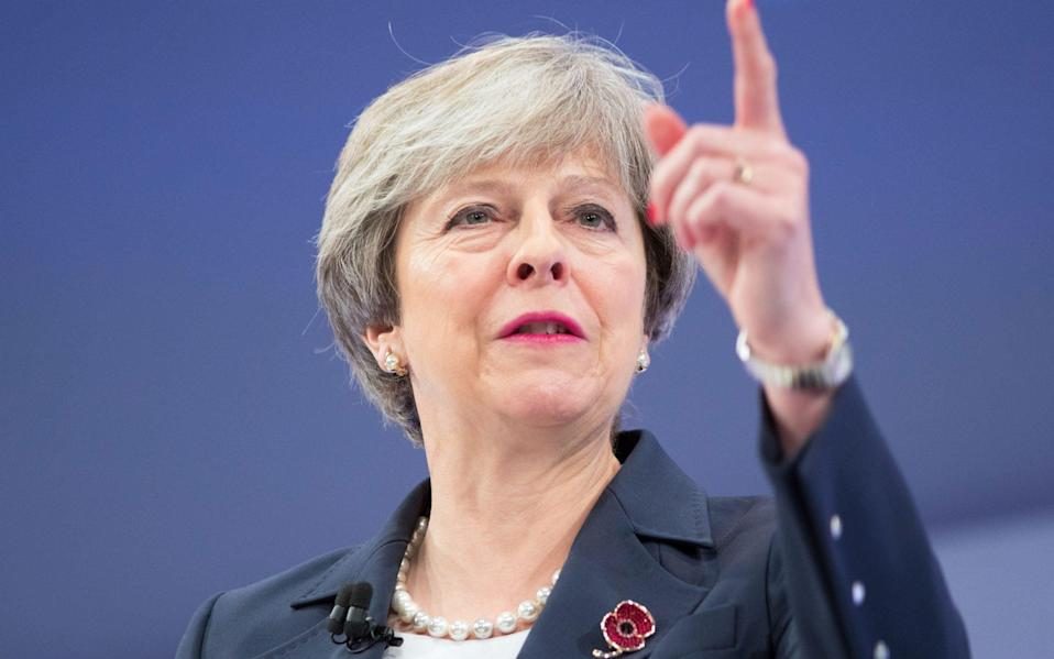 """As prime minister, Theresa May pledged that the UK would hit a """"net-zero"""" carbon target by the middle of the century"""
