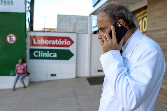 Antonio Carlos Bandeira, a doctor at the Santa Helena hospital, thought the syndrome had to be identified with urgency (AFP Photo/Christophe Simon)