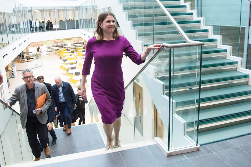 Liberal Democrat Leader Jo Swinson pictured during a visit to technology company Imagination Technologies, in St Albans, Hertfordshire. Picture date: Monday November 18, 2019. Photo credit should read: Matt Crossick/Empics