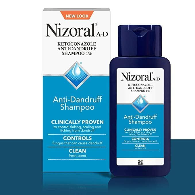 <p>If you are dealing with dandruff, give the fan-favorite <span>Nizoral Anti-Dandruff Shampoo</span> ($15) a try once a week.</p>