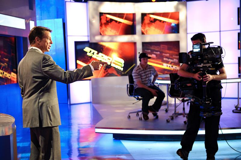 NEW YORK, NY - OCTOBER 10: Fox News anchor, Shepard Smith on the set of 'Studio B with Shepard Smith' during a rehersal at Fox News studios in New York. Fox News Channel celebrated its 15th anniversary on the air on October 7th.