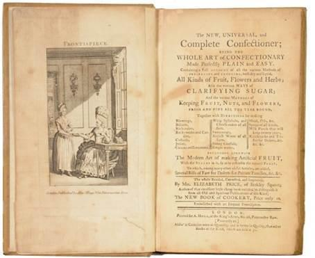 Inside 'The New Universal and Complete Confectioner'Courtesy of Shapero Rare Books