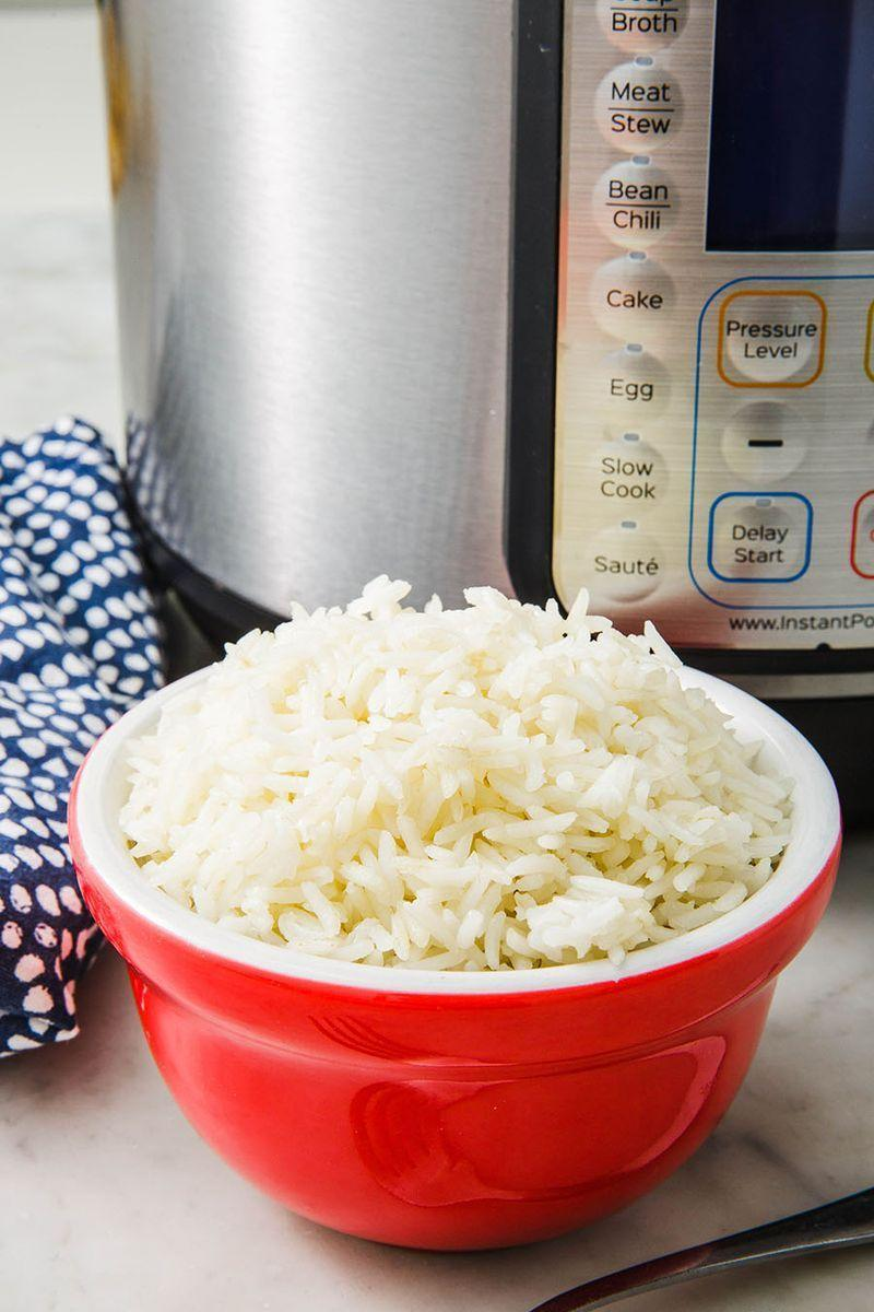 """<p>When <a href=""""https://www.delish.com/uk/food-news/a28997170/how-to-cook-rice/"""" rel=""""nofollow noopener"""" target=""""_blank"""" data-ylk=""""slk:cooking rice"""" class=""""link rapid-noclick-resp"""">cooking rice</a>, a lot of things can go wrong. But not in this stupid easy recipe. Instant Pot, we 💖 you.</p><p>Get the <a href=""""https://www.delish.com/uk/cooking/recipes/a30774757/instant-pot-rice-recipe/"""" rel=""""nofollow noopener"""" target=""""_blank"""" data-ylk=""""slk:Instant Pot Rice"""" class=""""link rapid-noclick-resp"""">Instant Pot Rice</a> recipe. </p>"""