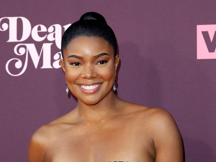 Gabrielle Union smiles on the red carpet.
