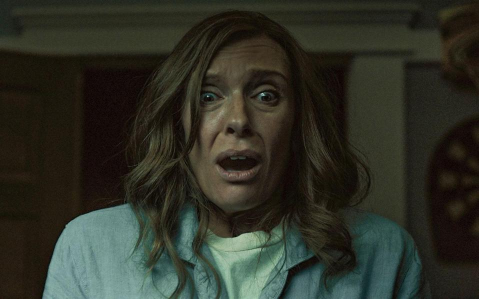 """<p>Speaking of Ari Aster, his feature film debut, <em>Hereditary</em>, is a haunting tale about grief, mental illness, and inherited trauma. If you have even an inkling of mommy issues, this horror movie starring Toni Collette will hit you hard. </p> <p><a href=""""https://www.amazon.com/Hereditary-Toni-Collette/dp/B07DHYSBJ7"""" rel=""""nofollow noopener"""" target=""""_blank"""" data-ylk=""""slk:Available to stream on Amazon Prime Video"""" class=""""link rapid-noclick-resp""""><em>Available to stream on Amazon Prime Video</em></a></p>"""