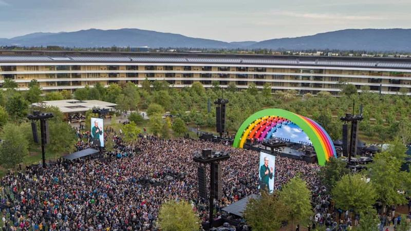 Apple's latest product is a rainbow stage where Lady Gaga just performed