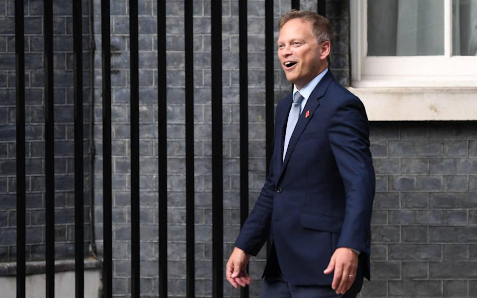 Grant Shapps on his way into Downing Street this afternoon - DANIEL LEAL-OLIVAS/AFP