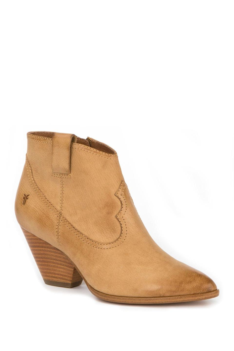 "<br><br><strong>Frye</strong> Reina Leather Bootie, $, available at <a href=""https://go.skimresources.com/?id=30283X879131&url=https%3A%2F%2Fwww.nordstromrack.com%2Fshop%2Fproduct%2F2299855%2Ffrye-reina-leather-bootie"" rel=""nofollow noopener"" target=""_blank"" data-ylk=""slk:Nordstrom Rack"" class=""link rapid-noclick-resp"">Nordstrom Rack</a>"
