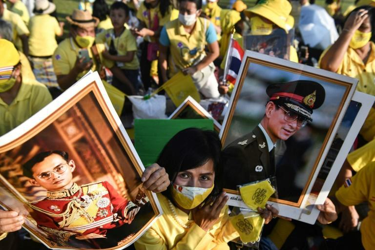 Thousands of royals turned out to honour the late Thai king Bhumibol Adulyadej, who died in 2016 and was widely revered in the country