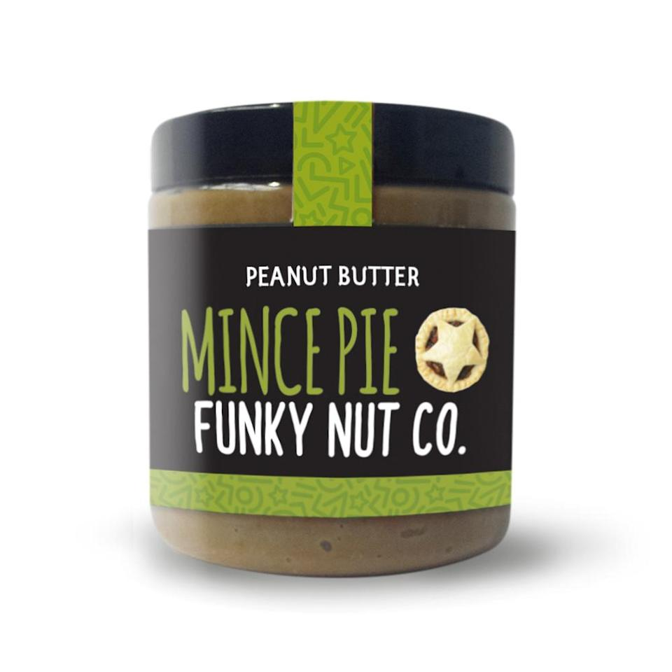 Why not spread mince pie flavoured peanut butter on your morning toast in the run-up to Christmas? [Photo: Funky Nut Co.]
