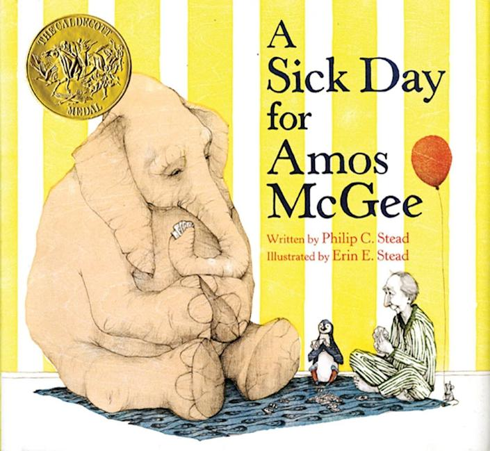 "This award-winning book shows the value of selflessness and caring for one another. <i>(Available <a href=""https://www.amazon.com/Sick-Day-Amos-McGee/dp/1596434023/"" rel=""nofollow noopener"" target=""_blank"" data-ylk=""slk:here"" class=""link rapid-noclick-resp"">here</a>)</i>"