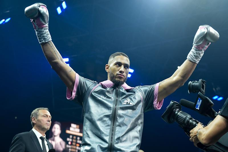 French Olympic champion Tony Yoka gestures as he arrives prior to his heavyweight fight against German Michael Wallisch on September 28, 2019 in Nantes, western France. (Photo by Sebastien SALOM-GOMIS / AFP) (Photo credit should read SEBASTIEN SALOM-GOMIS/AFP via Getty Images)