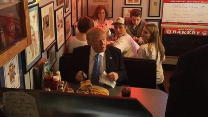 Donald Trump Gets Heckled at New Hampshire Diner: 'Enjoy Your Burger, Racist!'