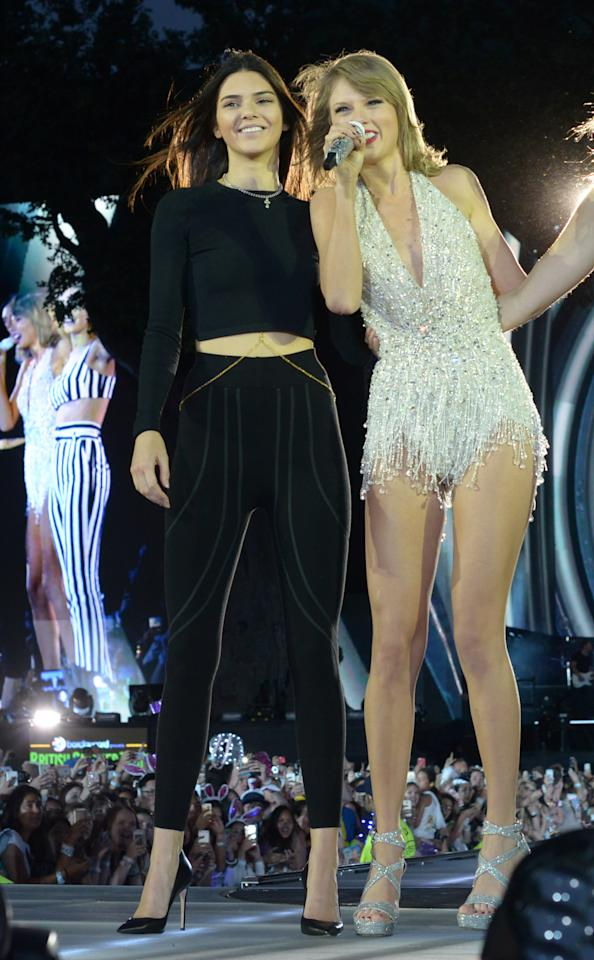 """Status: Not friends  Despite an appearance at a concert at Swift's 1989 World Tour alongside other supermodel besties like Gigi Hadid and Cara Delevingne, Jenner is not as close to Swift as fans might think.  Kim Kardashian confirmed that when the """"Keeping Up with the Kardashians"""" star appeared on <a href=""""https://stylecaster.com/kim-kardashian-split-stylist-monica-rose/"""" target=""""_blank"""">Andy Cohen's """"Watch What Happens Live"""" </a>to admit that Jenner is indeed not in Swift's squad. It might have to do with Kardashian's <a href=""""https://stylecaster.com/kim-kardashian-taylor-swift-snapchat/"""" target=""""_blank"""">Snapchat exposure</a>or that Jenner has formed her own supermodel squad, called the Super Natural Friend Group with """"It"""" girls like <a href=""""https://stylecaster.com/hailey-baldwin-shade-taylor-swift/"""" target=""""_blank"""">Hailey Baldwin, who has made public</a> her distaste for the country singer-turned-pop star."""