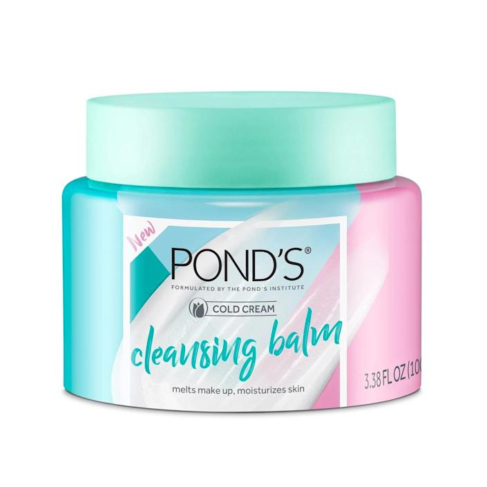 <p>The <span>Pond's Cold Cream Facial Cleansing Balm Makeup Remover</span> ($15) melts into a silky oil when it comes in contact with your skin. </p>