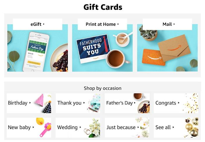 """You can customize your eGift cards with different designs. <p class=""""copyright"""">Steven John/Business Insider</p>"""