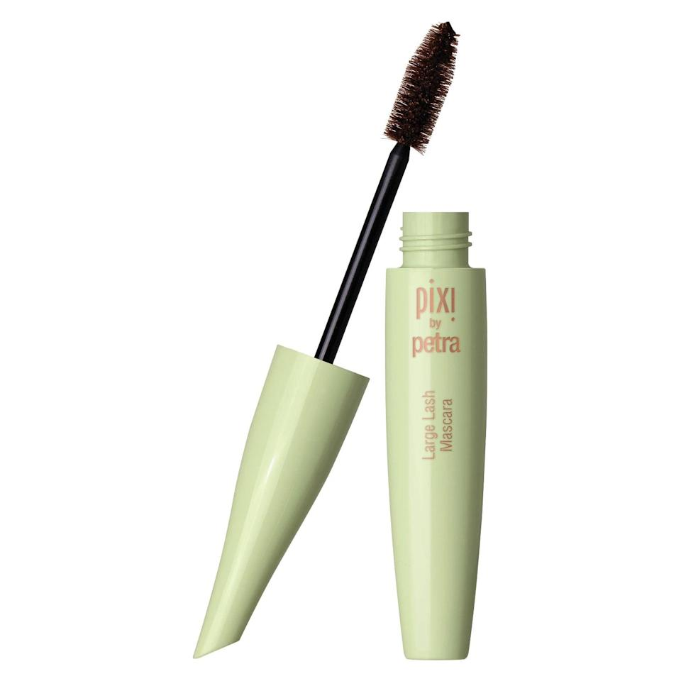 <p>The <span>Pixi Large Lash Mascara</span> ($16) features an extra-large brush for building extreme volume and length, while the smudge-proof formula stays put all day.</p>