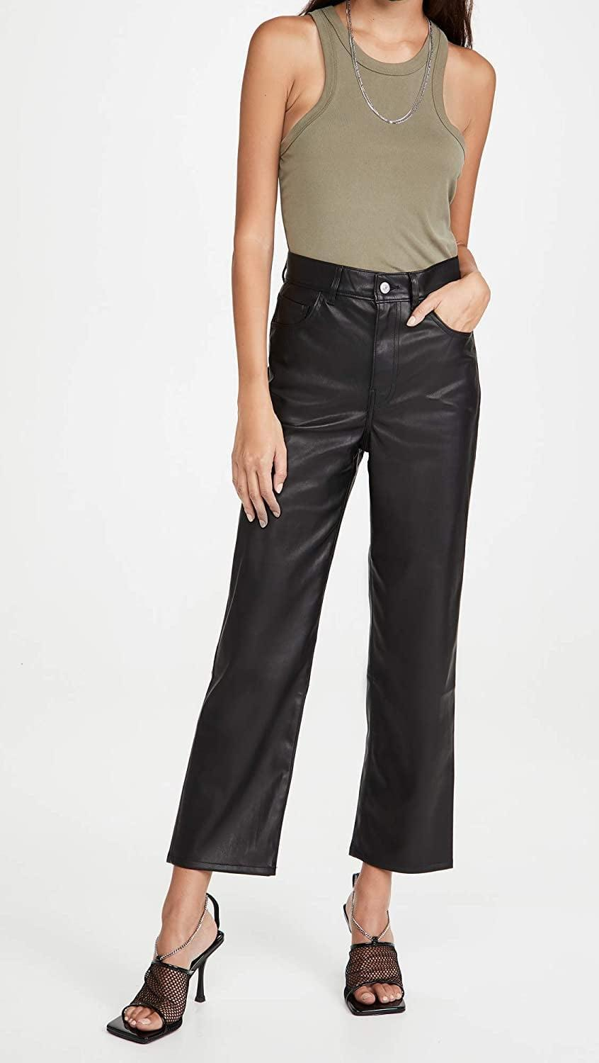 <p>If you're looking for a leather pair that's not too tight, opt for these <span>Levi's Faux Leather Rib Cage Straight Pants</span> ($128).</p>