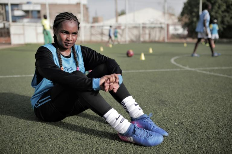 'A new reality,' said Rayan Ibrahim Rajab, a 22-year-old at training with Tahadi women's football club in Khartoum