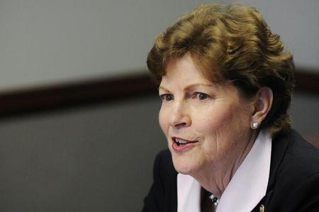 U.S. Senator Jeanne Shaheen takes part in the Reuters Washington Summit in Washington