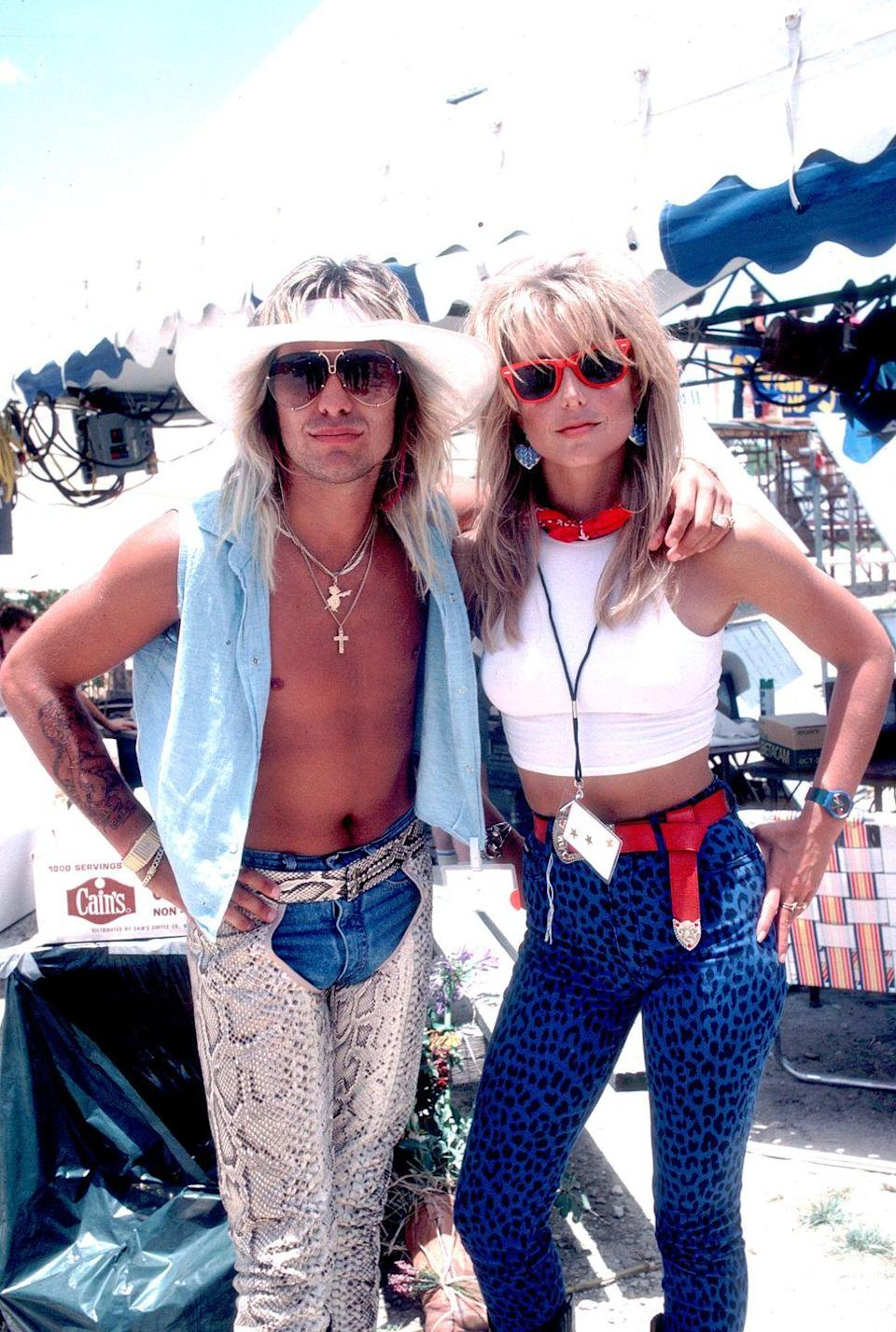 <p>Neil and actress Heather Thomas at Farm Aid 2 in Austin, Texas in 1986. The performance was aired live on VH1 and millions of viewers tuned in to watch performances by Alabama, Stevie Ray Vaughan, The Beach Boys, and more.</p>