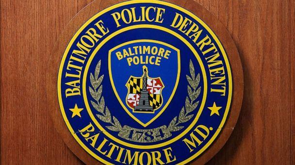 PHOTO: A seal of the Baltimore Police Department is seen at Police Headquarters in Baltimore, Aug. 8, 2017. (Afp Contributor/AFP via Getty Images, FILE)