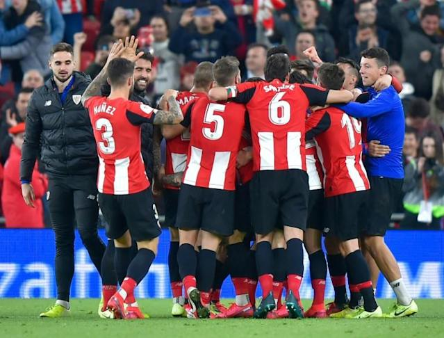 Athletic Bilbao want to play the Copa Del Rey final against Real Sociedad with fans in the stands (AFP Photo/ANDER GILLENEA)