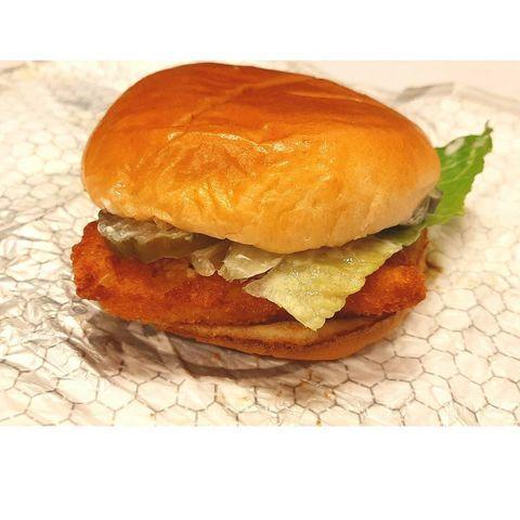 """<p><strong>What is it:</strong> Wild caught Alaskan pollock fillet, crunchy panko breading, topped with creamy dill tartar sauce, pickles, lettuce, and American cheese. Proof that ice fishing is actually totally worth it.</p><p><strong>Why it's good tier: </strong>is this better than McDonald's Filet-O-Fish? We couldn't possibly comment.</p><p><a href=""""https://www.instagram.com/p/B81JTX6l4mK/"""" rel=""""nofollow noopener"""" target=""""_blank"""" data-ylk=""""slk:See the original post on Instagram"""" class=""""link rapid-noclick-resp"""">See the original post on Instagram</a></p>"""