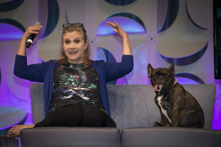 "Carrie Fisher, who definitely is not satirized in ""A Star is Bored."" Not at all. <span class=""copyright"">(Allen J. Schaben / Los Angeles Times)</span>"