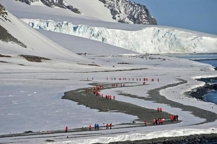Some 78,500 people are expected to visit the region between November and March, according to the International Association of Antarctica Tour Operators (IAATO) (AFP Photo/Johan ORDONEZ)