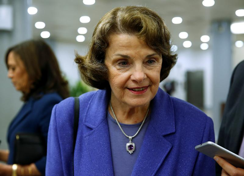Sen. Dianne Feinstein pointed out that 18-year-olds can't buy a handgun but they can buy an AR-15. (Reuters/Joshua Roberts)