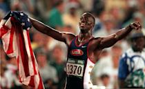 At the Atlanta Games of 1996, Michael Johnson shattered the 200-meter record and thrust himself into Olympic history all while wearing his golden shoes. The gold continued with another astonishing win at the 400-meter race. American track and field athletes continue to perform under the shadow of Johnson, his legacy, and his shoes. (AP Photo/Denis Paquin)