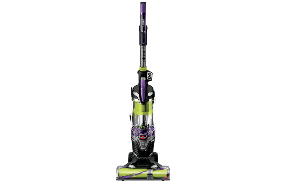 """<p><strong>BISSELL</strong></p><p>amazon.com</p><p><strong>$229.99</strong></p><p><a href=""""https://www.amazon.com/BISSELL-Lightweight-Upright-Cleaner-24613/dp/B07QXTS4KH/?tag=syn-yahoo-20&ascsubtag=%5Bartid%7C10055.g.1833%5Bsrc%7Cyahoo-us"""" rel=""""nofollow noopener"""" target=""""_blank"""" data-ylk=""""slk:Shop Now"""" class=""""link rapid-noclick-resp"""">Shop Now</a></p><p>This vacuum addresses all the vacuum cleaner issues that pet owners face and it comes <strong>fully loaded with features that'll suck up and deal with every last bit of pet hair</strong>. A tangle-free brush roll keeps pet hair from clogging the bristles, and a hair spooling system inside the canister contains the mess so emptying is easier and cleaner. <br></p><p>Its sealed allergen system traps fine particles and the filter uses Febreze technology to eliminate those stale odors that vacuuming up pet hair can generate. </p>"""