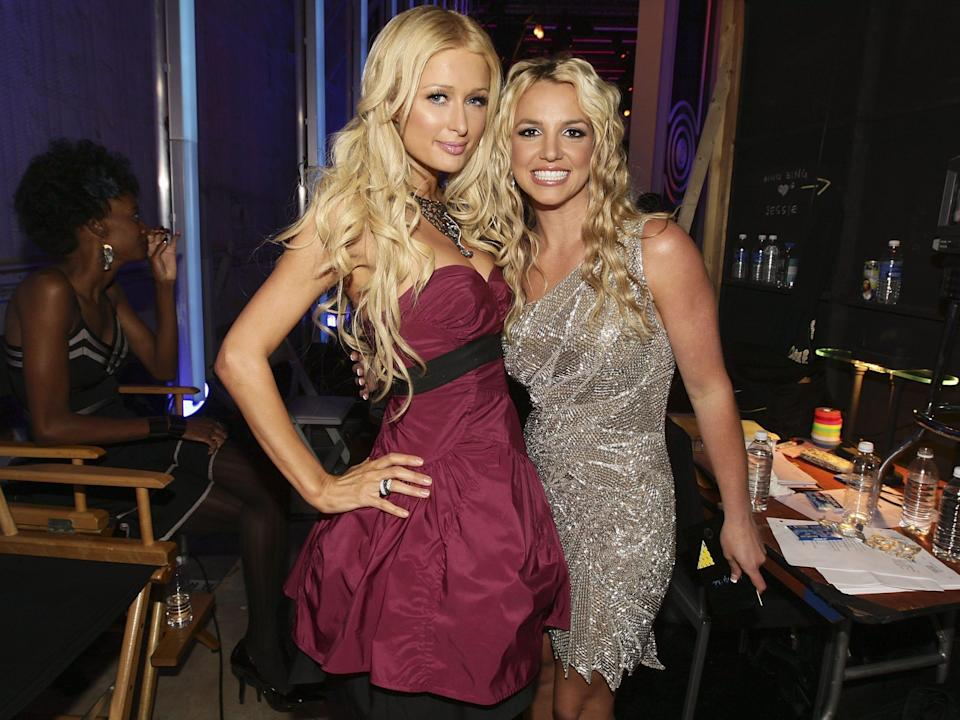 Britney Spears and Paris Hilton together in 2008