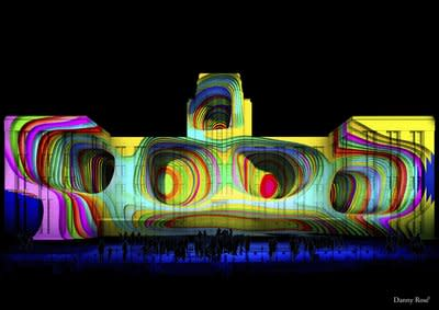 Organic Vibrations artist impression of the Museum of Contemporary Art by Julia Gorman and Danny Rose