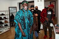 <p>Michael K. Williams enjoyed an outing at The Men's Room pop-up shop in New York City.</p>