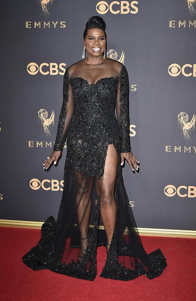 <p>Shortly after sitting in the front row of Siriano's New York Fashion Week runway show, Leslie Jones attended the Emmys in one of his dazzling designs. (Photo: Getty Images) </p>