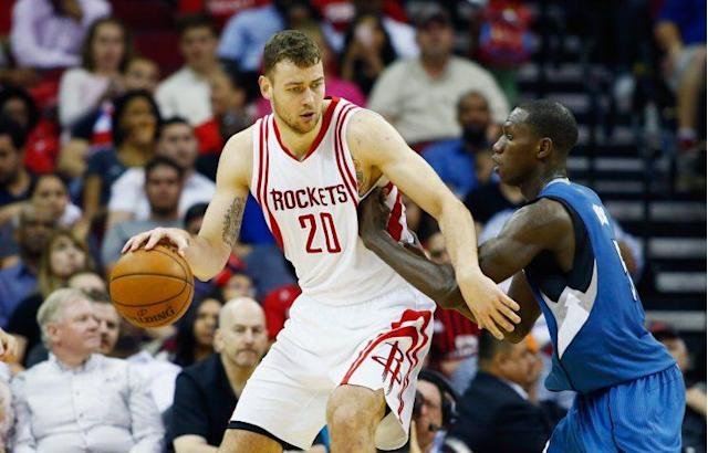 Donatas Motiejunas has played four seasons with the Rockets. (Getty Images)