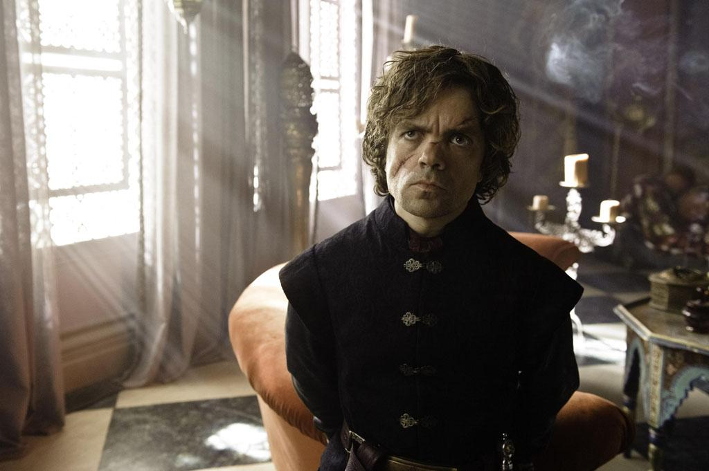 A scarred Tyrion Lannister (Peter Dinklage) is ready to fight to get back the power he enjoyed as Hand of the King.
