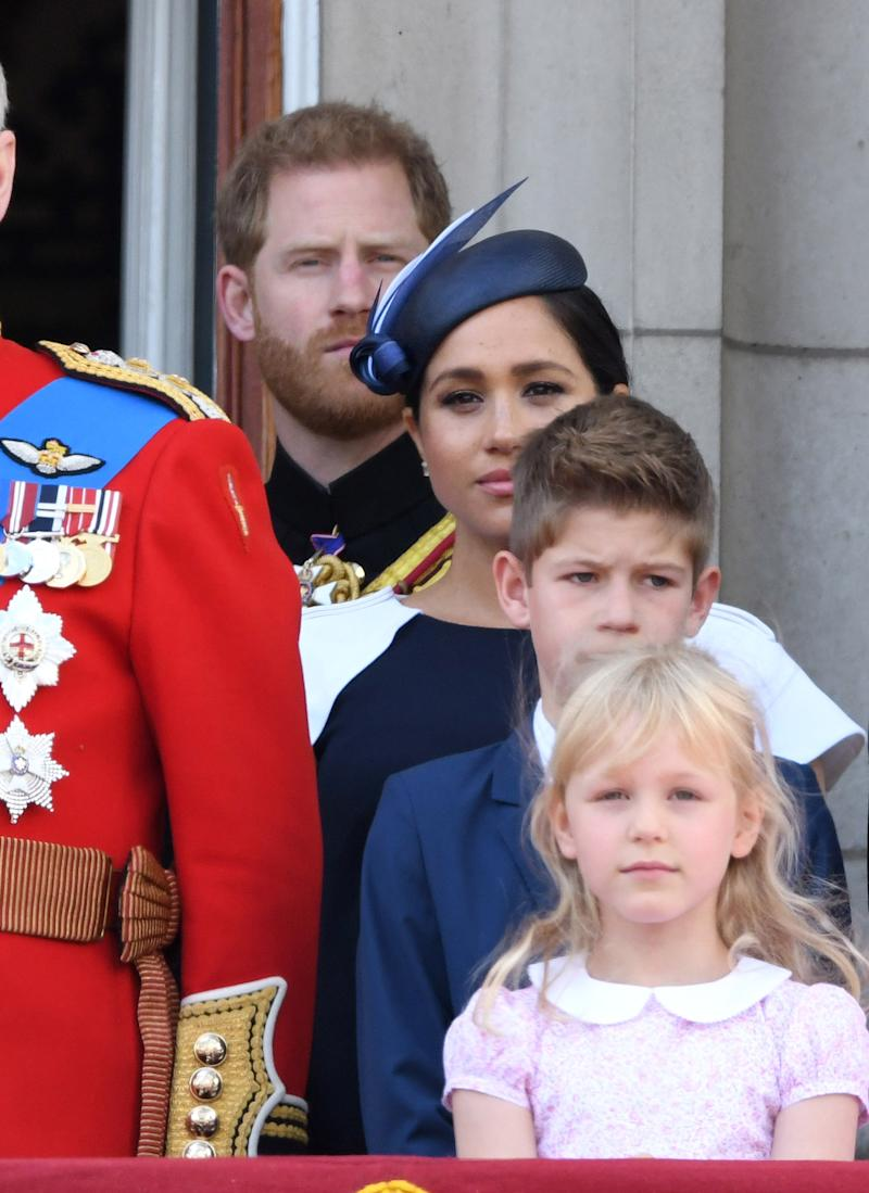 Prince Harry and Meghan Markle at Buckingham Palace at Trooping the Colour