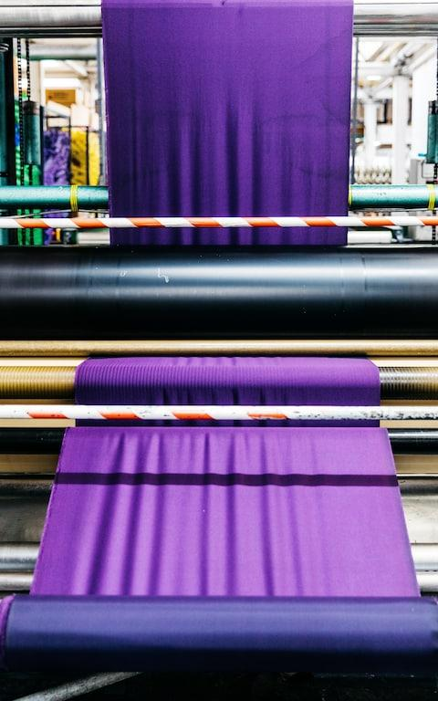 The warp is the base layer that the weft is applied to to create a pattern - Credit: George Baxter