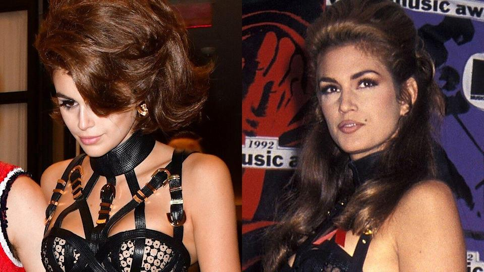 The model celebrated her birthday in a sexy ensemble so similar to what her mom wore decades ago.