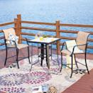 <p>Appetizers, drinks, and a warm summer night all pair perfectly with the <span>Iron Patio Bistro Set</span> ($409).</p>