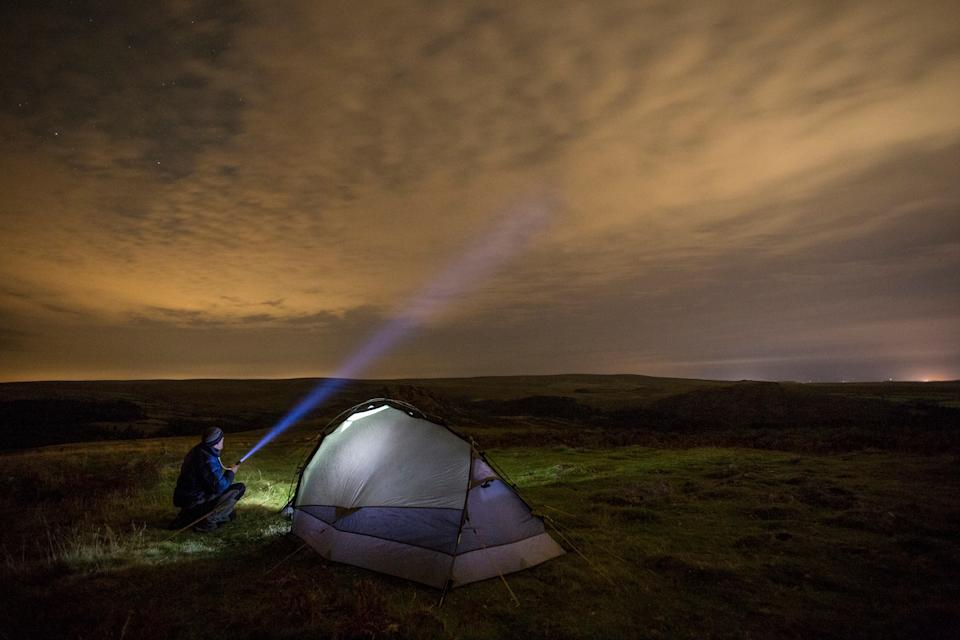 The national park is one of the few places in Britain where wild camping is legal - getty